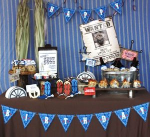 cowboy ideas for a birthday party